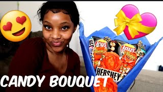 DIY |HOW TO MAKE A CANDY BOUQUET FOR MOTHERS DAY|VERY EASY