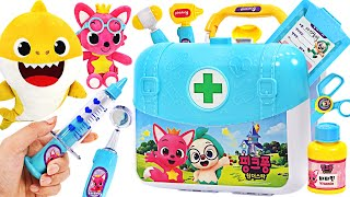 Baby shark is sick! Pinkfong, heal me! Pinkfong Doctor Bag Set Hospital Play   PinkyPopTOY