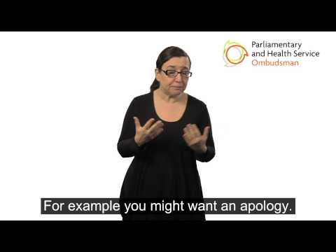 A video giving tips on making a complaint to the NHS in England.