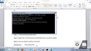 How to repair windows 7 and fix all Corrupted file without using any software and without cd
