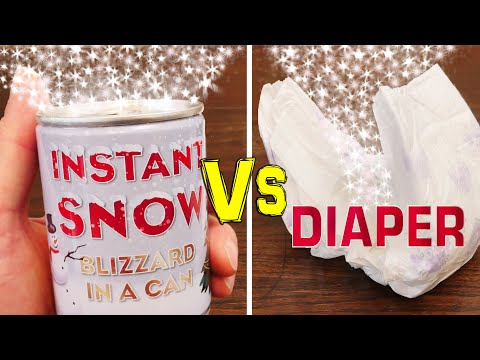 How to Make Artificial Snow From a Diaper