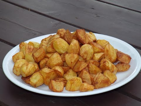 Картошка в казане от Луча ( Potatoes with garlic in a cauldron )
