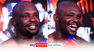 """""""I can beat ANYONE!""""   Dillian Whyte reacts to his 4th round demolition of Alexander Povetkin"""