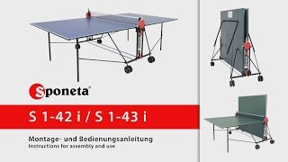 Sponeta S 1-42 i / S 1-43 i - Montageanleitung Tischtennistisch / Instructions for assembly and use