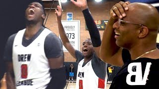 Player Gets 2ND Chance To SAVE GAME With Free Throws! Drew League WILD Finish + Crowd HEATED at Refs