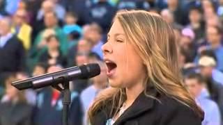 anna graceman sings in stadium - national anthem