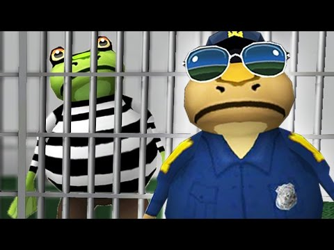 COPS and ROBBERS!! - The Amazing Frog Gameplay