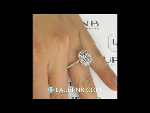 1.70 ct Cushion Cut Diamond Halo Engagement Ring