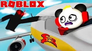 ROBLOX ESCAPE AIRPLANE GOOD ENDING! Let's Play Roblox with Combo Panda