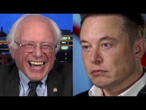Bernie Sanders BEATS DOWN Elon Musk After Musk Tries To Attack Bernie!
