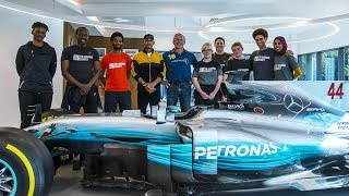 Rugby Legend Sean Fitzpatrick Takes Mercedes F1 Tour!
