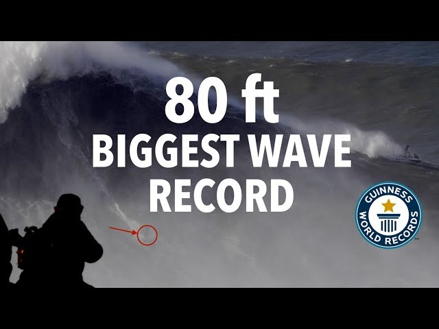 Guinness World Record: Biggest Wave Ever Surfed (80 Feet) Rodrigo Koxa @ Nazaré, Portugal