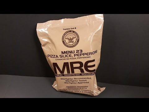 Pepperoni Pizza MRE (Meal Ready to Eat) Review