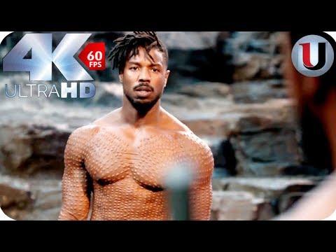 Download Black Panther - Killmonger Vs T'Challa - MOVIE CLIP (4K HD) HD Mp4 3GP Video and MP3