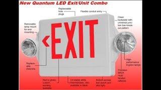 Third Gen Lithonia Quantum LHQM ExitEmergency Unit (2003)