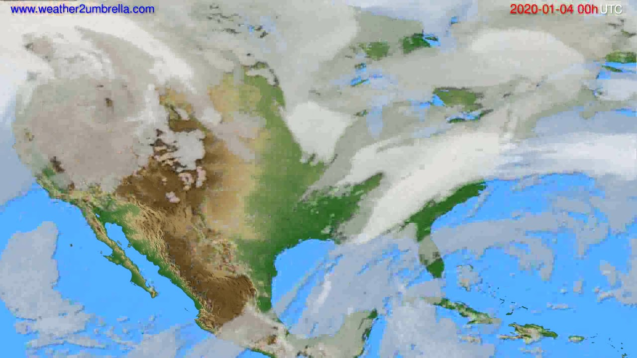 Cloud forecast USA & Canada // modelrun: 00h UTC 2020-01-03
