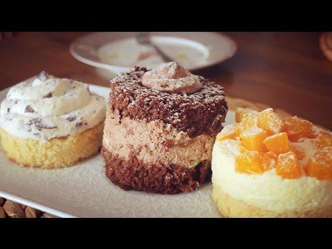 Mini-Törtchen mit drei verschiedenen Füllungen   Basisrezept für Tortenfüllungen
