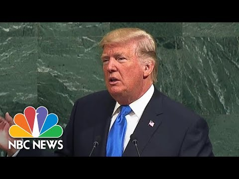 President Donald Trump Calls On Iran To 'End Its Pursuit Of Death And Destruction' | NBC News