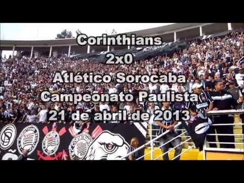 Torcida do Corinthians no jogo contra o A. Sorocaba