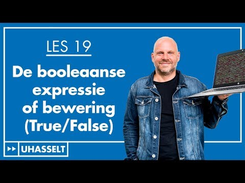 De booleaanse expressie of bewering (True/False)
