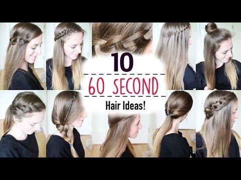 Ten 60 Second Heatless Hairstyles / 1 Minute Hairstyles | Quick Hairstyles | Braidsandstyles12