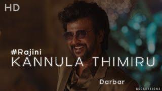 Darbar(Tamil)|Kannula Thimuru|Official Video Song|Rajini