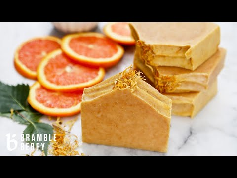 Natural Soap Kit for Beginners - Energizing Orange