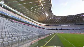 preview picture of video 'Mit Google Street View durch die Allianz-Arena in München (Fußballstadion)'