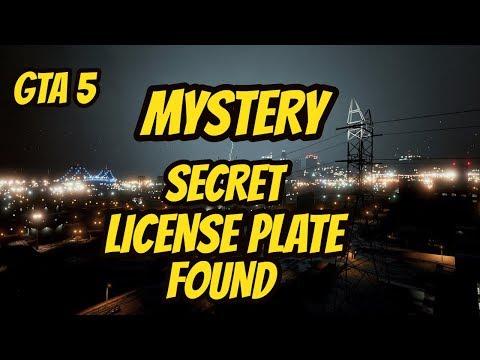GTA 5 MYSTERY : MYSTERY LICENSE PLATE FOUND