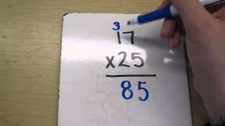 Multiplying 2 digit numbers- example 1