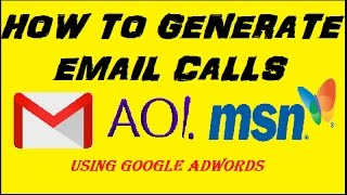 How To Generate Email Calls For Tech Support Using Google Adwords (Website Updated)