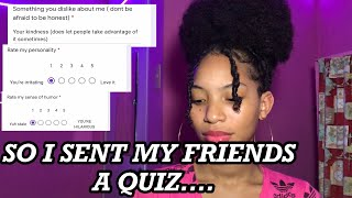 Sending a QUIZ to my FRIENDS   MoreofJenille