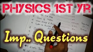 first year physics important questions - मुफ्त