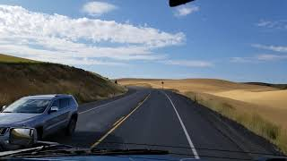 Highway 195 Southbound to Lewiston ID.. Going Down Clearwater Valley Vista View Hill!