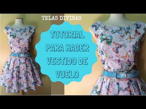 9b08daa9a Cómo hacer un vestido con tela estampada. Hola a todos