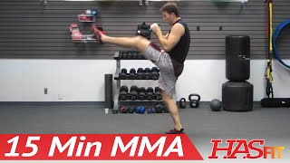 UFC TRAINING MMA WORKOUT - 15 Min MMA Training Conditioning Workouts w/ PRO Fight Coach Kozak by HASfit