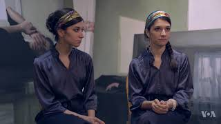 Iranian Twin Sisters Win Over the US with Their Emotional Art
