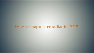 How to Export Results in PDF in Omixon HLA Twin