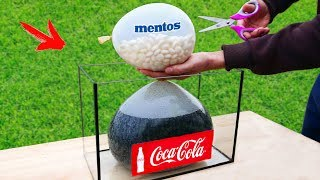 EXPERIMENT: A lot of Mentos and Coca-Cola