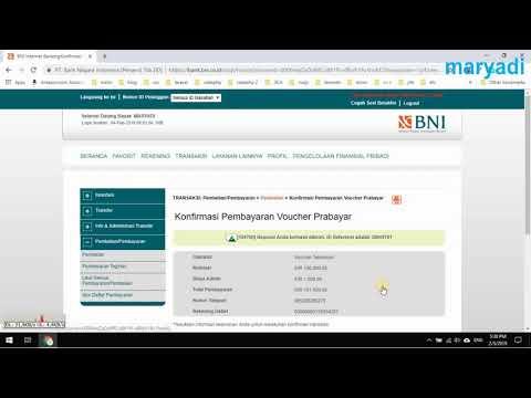 Membeli Pulsa Menggunakan Internet Banking BNI