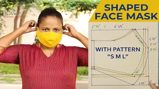 How to sew a REUSABLE FABRIC FACE MASK at home - Beginners DIY/ Small, Medium, Large sizes