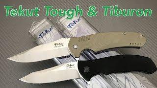 Tekut Knife Tiburon and Tough budget knives G10 scales linerlock flipper