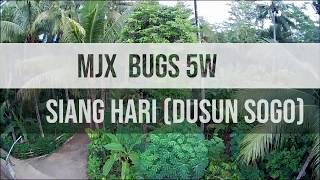 Mjx bugs 5w || keadaan siang hari dan malam hari dusun sogo dengan drone
