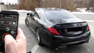 Mercedes-Benz S350d W222 / V222 with Maxhaust active exhaust and Carlsson bodykit