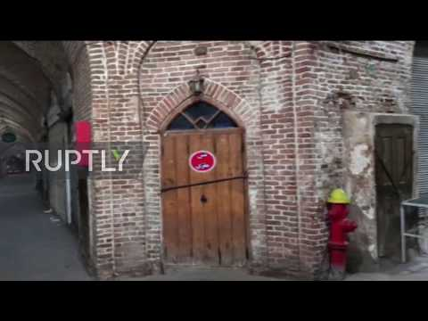 Iran: Tabriz Grand Bazaar remains deserted due to coronavirus lockdown