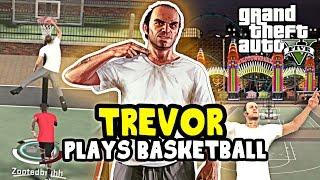 NBA 2K17: GTA 5 TREVOR AT PARK! TREVOR PLAYS BASKETBALL! BEST SLASHER BUILD NBA 2K17