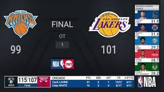 Knicks @ Lakers   NBA on TNT Live Scoreboard