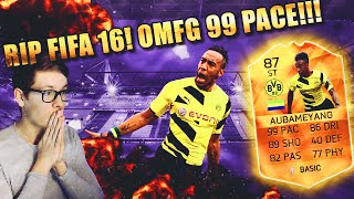 FIFA 16 AUBAMEYANG MOTM DEUTSCH  RIP FIFA 16 ULTIMATE TEAM HOLY SHIT 99 PACE