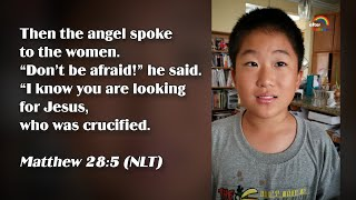 ★Matthew 28:5★Kids Recite Bible Verses | Memory Verse For Kids★ After Rainbow