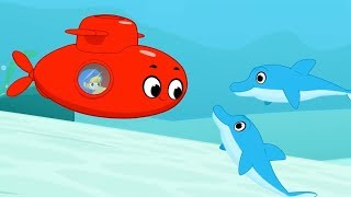 My Red Submarine - My Magic Pet Morphle | Baby Cartoons and Kids Songs | Moonbug
